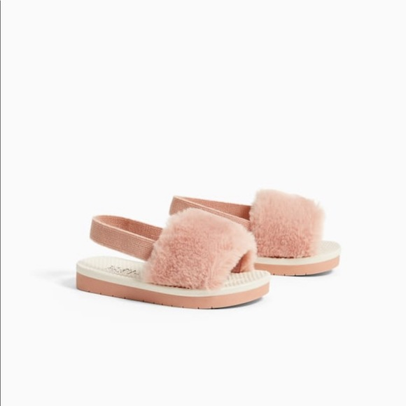 Zara Shoes | Zara Kids Fur Slides
